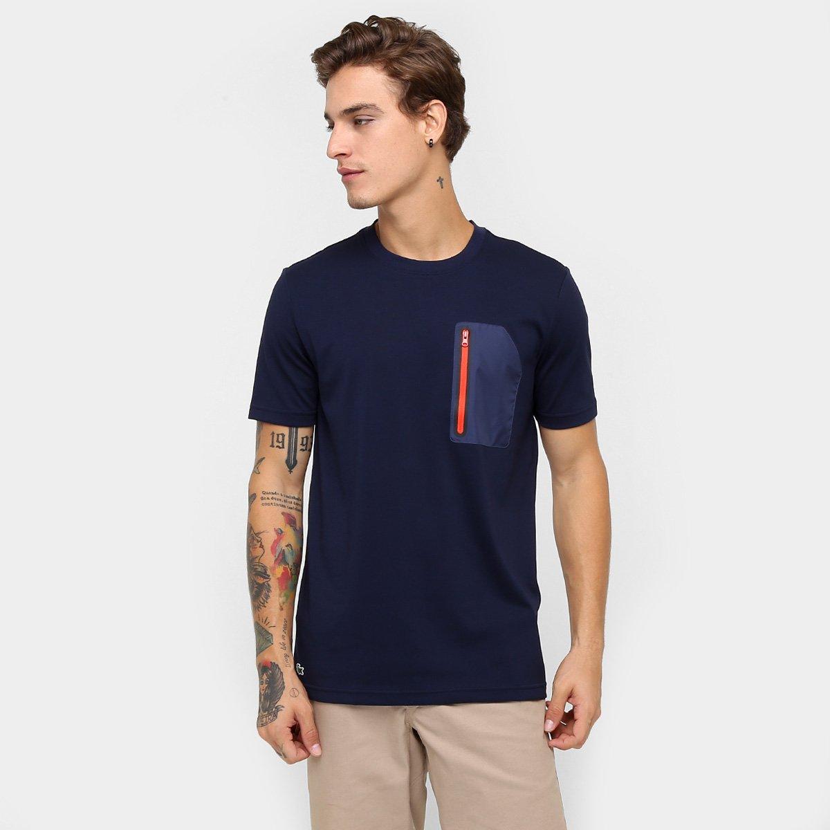Camiseta Lacoste Live Bolso Zíper - Compre Agora   Zattini f97969f460