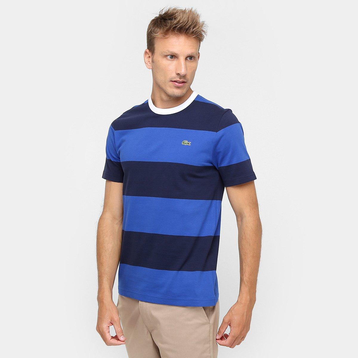 Camiseta Lacoste Live Listras - Compre Agora   Zattini 4c9e2b11c4