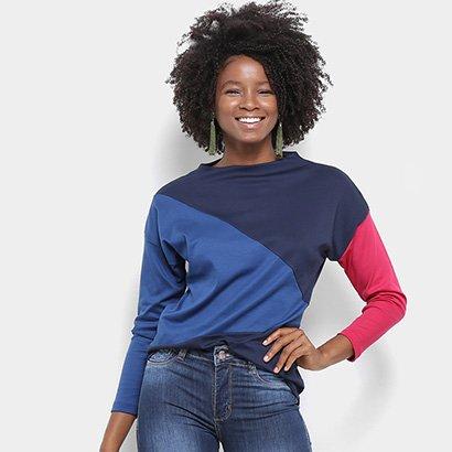 Camiseta Lacoste Manga Longa Tricolor Feminina-Feminino