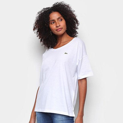 Camiseta Lacoste Mini Logo Feminina