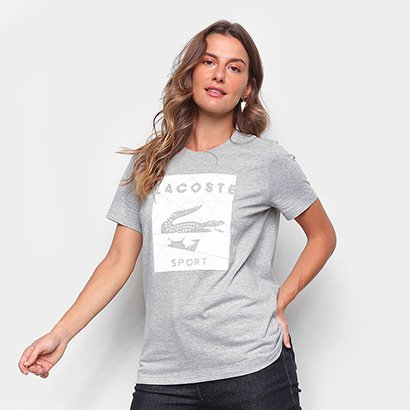 Camiseta Lacoste Mosaico Sport Feminina