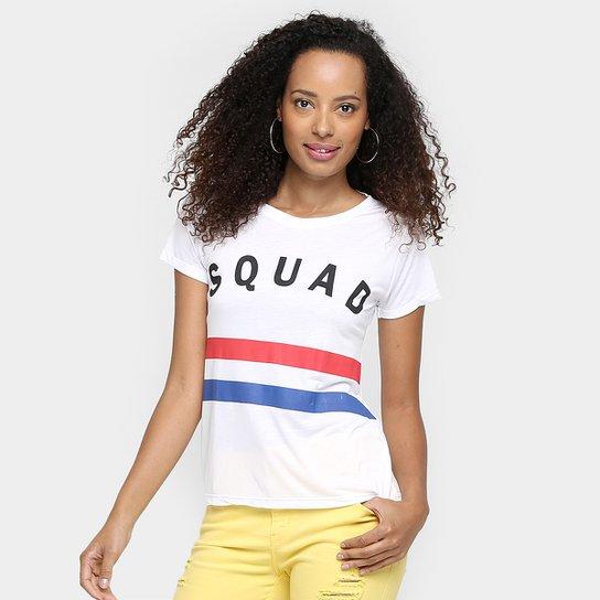 Camiseta Lamar Estampada Squad - Off White