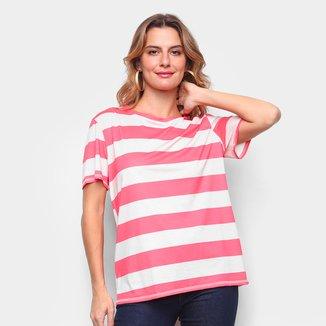 Camiseta Lança Perfume Básica Listrada Feminina