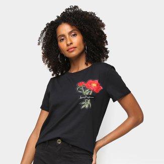 Camiseta Lança Perfume Bordada Feminina