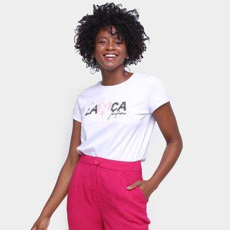 Camiseta Lança Perfume Coração Feminina