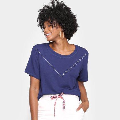 Camiseta Lança Perfume Estampada Feminina