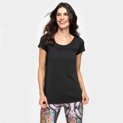 Camiseta Lauf Tela Transparente-Feminino