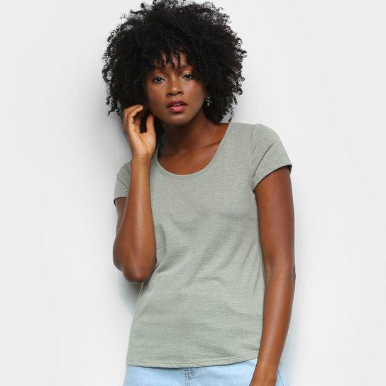 Camiseta Lecimar Básica Feminina - Amarelo