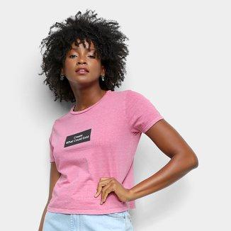 Camiseta Lecimar Estampada Create Feminina