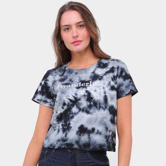 Camiseta Lecimar Tie Dye Wanderlust Feminina