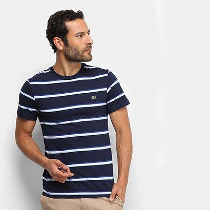 Camiseta Listrada Lacoste Masculina
