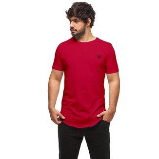 Camiseta Longline Oversized Swag Manga Curta Wooks C1-AZULROYAL-M