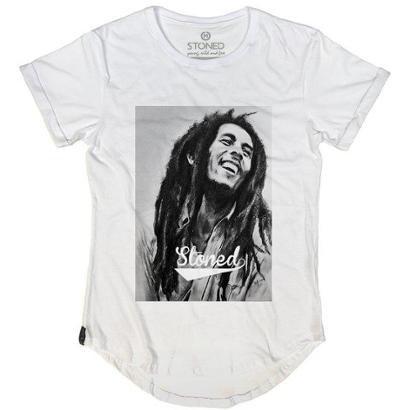 Camiseta Longline Stoned Bob Marley Masculina