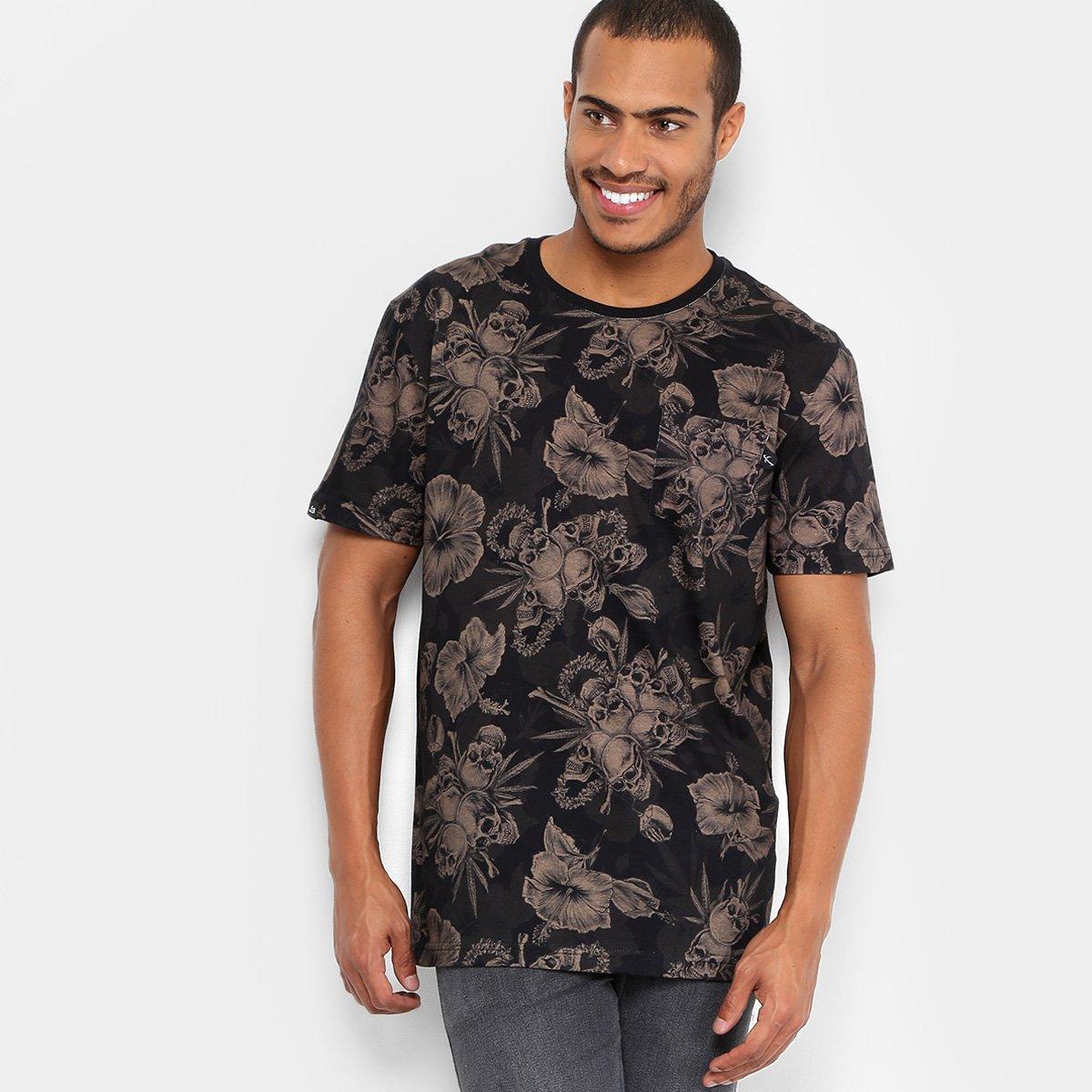 Camiseta Lost Digital Tropical Skull Masculina - Compre Agora  684b3d9fd1536