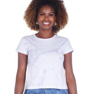Camiseta Manga Curta Estampa Tie Dye Feminina