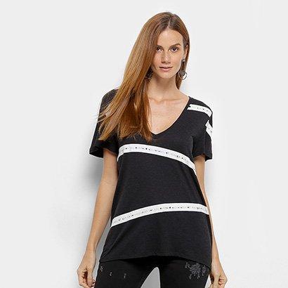 Camiseta Manga Curta Forum Listras Feminina-Feminino