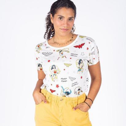 Camiseta Manga Curta Mulher Maravilha Besni Feminina