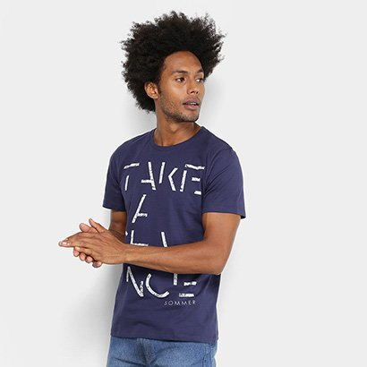 Camiseta Manga Curta Sommer Estampada Take a Chance Masculina
