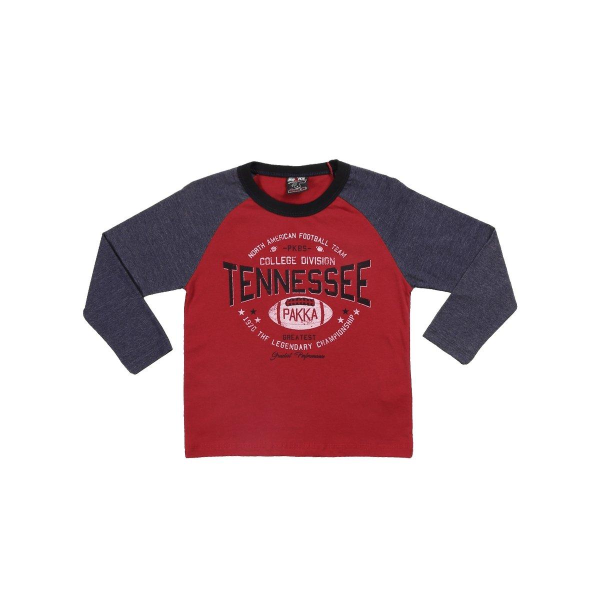Camiseta Manga Longa Infantil Pakka Boys Masculino - Compre Agora ... 3068e35c84