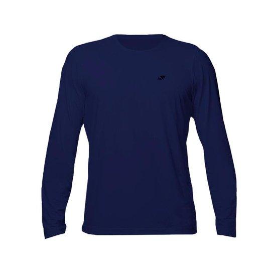 Camiseta manga longa masculino dry action uv - fps 50+ Mormaii - Azul