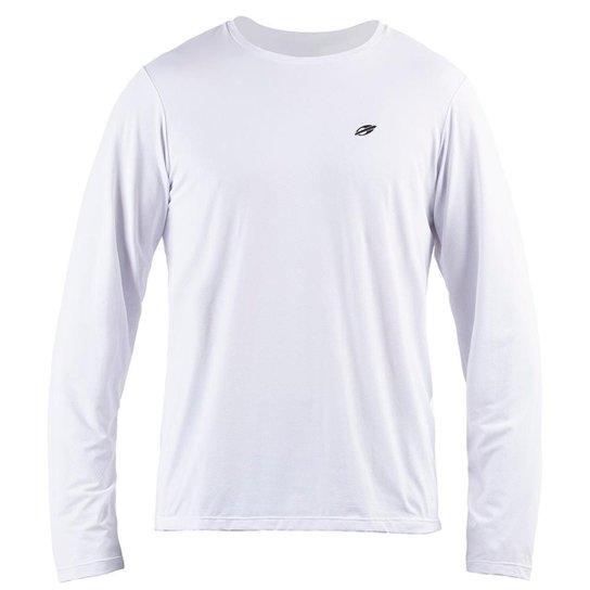 Camiseta Manga Longa  Mormaii Dry Action 3A Uv Masculina - Branco