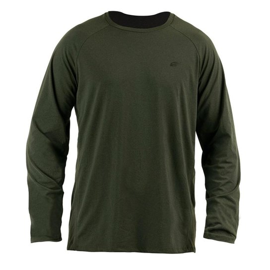 Camiseta Manga Longa  Mormaii Dry Flex 3A Uv Masculina - Verde