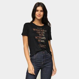 Camiseta Marialicia Foil Decide Feminina
