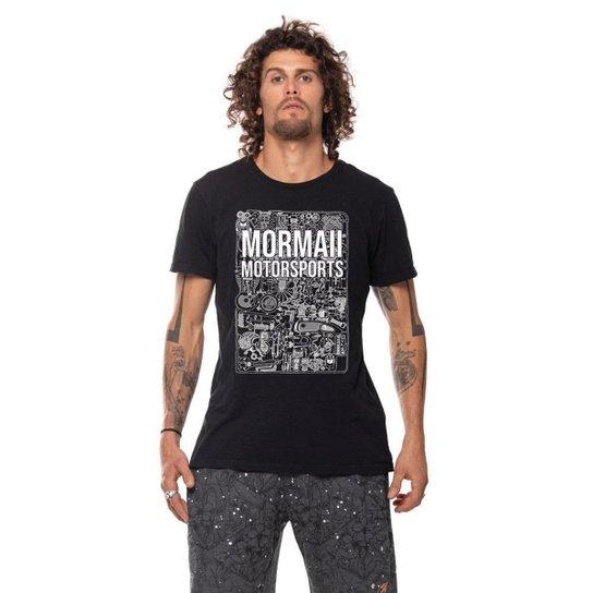 Camiseta mascuina Mormaii motorsports speed head - Preto