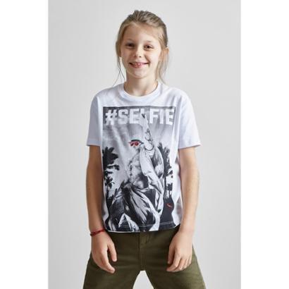 Camiseta Masculina Infantil Estampada Pf Mini Selfie Reserva Mini