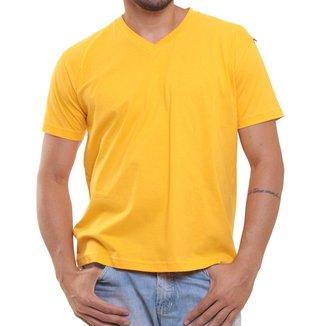 Camiseta Masculina Oitavo Ato Bordado Frontal Decote V Lisa