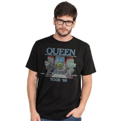 Camiseta Masculina Queen Tour 80'
