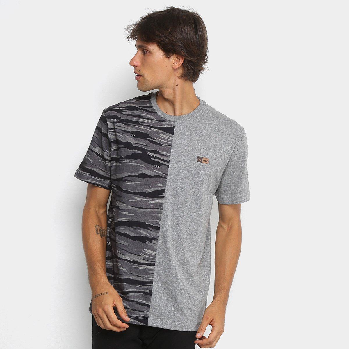 Camiseta MCD Especial Duo Camouflage Masculina - Cinza e Preto ... 9e3acf9ed12