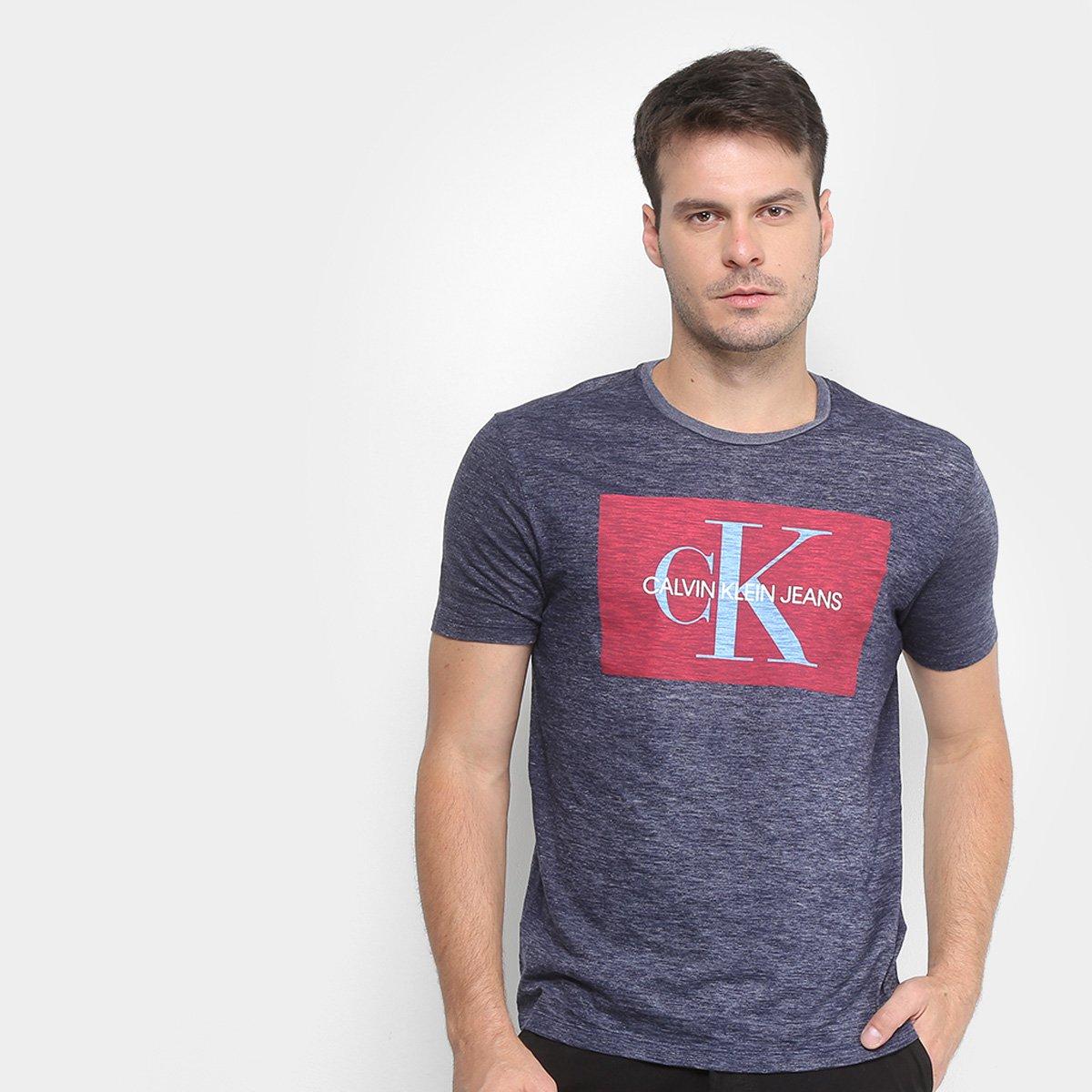 d812cde8b Camiseta Mescla Calvin Klein Manga Curta Masculina | Zattini