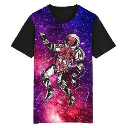 Camiseta Migian Astronauta Caveira Sublimada Masculina