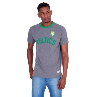 Camiseta Mitchell & Ness Estampada Boston Celtics Masculina