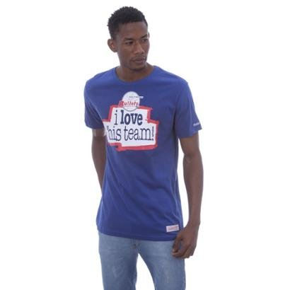 Camiseta Mitchell & Ness Estampada i Love Baltimore Bullets Masculina