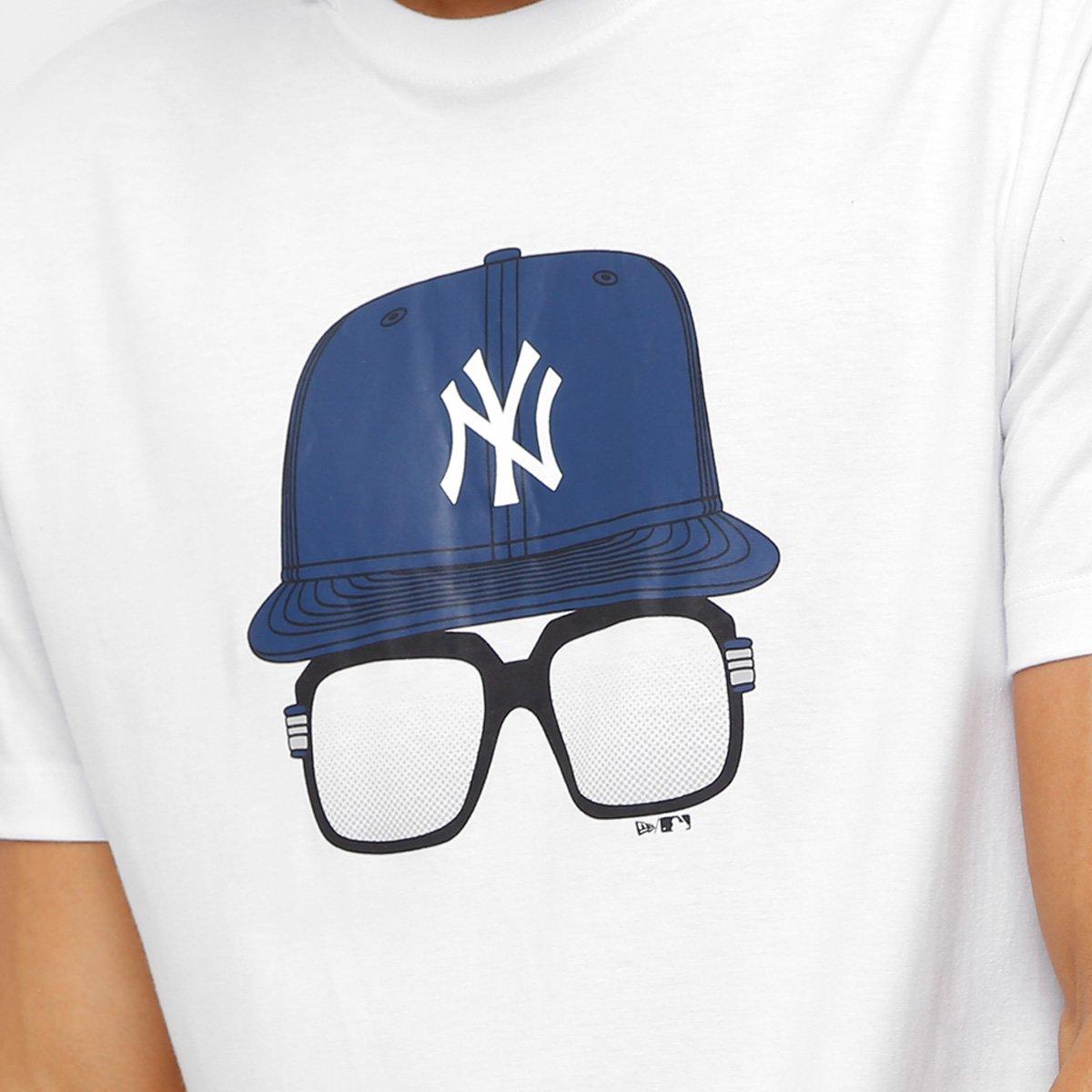 Camiseta MLB New York Yankees New Era 9 Cap Glasses Masculina ... 341e1ea5458
