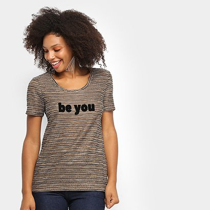 Camiseta Mob Malha Bouclé Be You Feminina