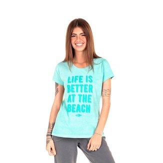 Camiseta Mormaii babylook at the beach Feminina