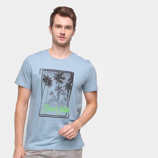 Camiseta Mormaii Beach Vibes Masculina - Azul Claro
