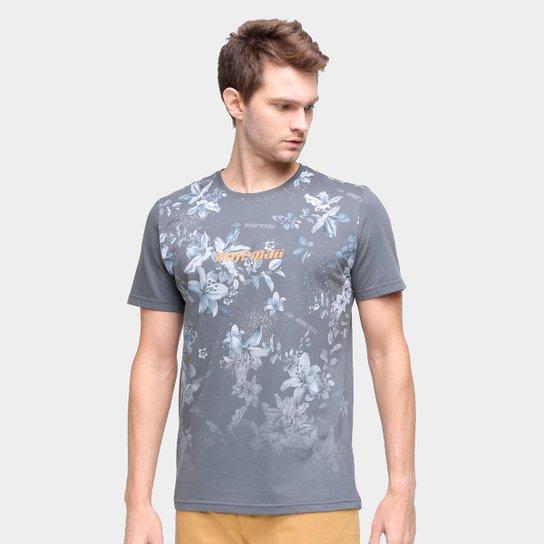 Camiseta Mormaii Estampada Masculina - Cinza Claro