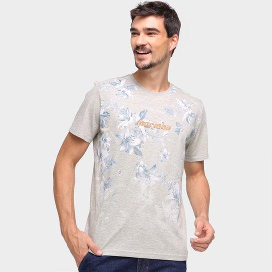 Camiseta Mormaii Estampada Masculina - Cinza+Bege