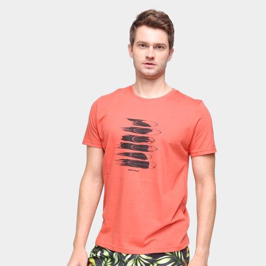 Camiseta Mormaii Fish Masculina - Laranja