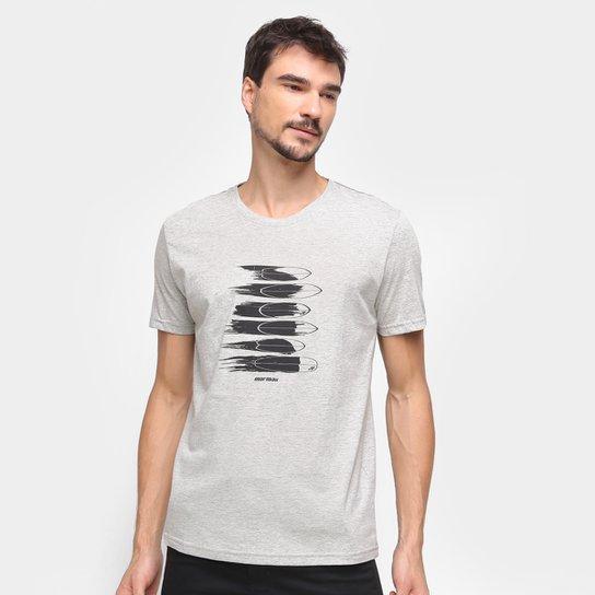 Camiseta Mormaii Fish Masculina - Cinza+Bege