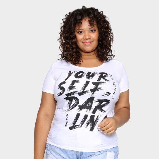 Camiseta Mormaii Just Believe Plus Size Feminina - Branco