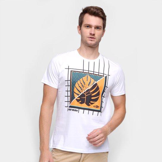 Camiseta Mormaii Leaf Masculina - Branco