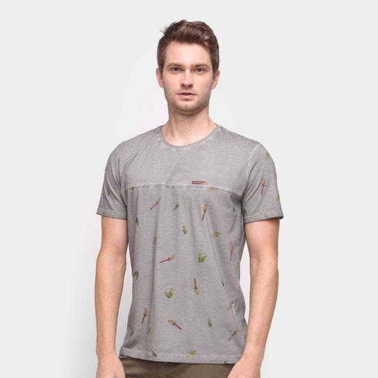 Camiseta Mormaii Nature Masculina - Chumbo