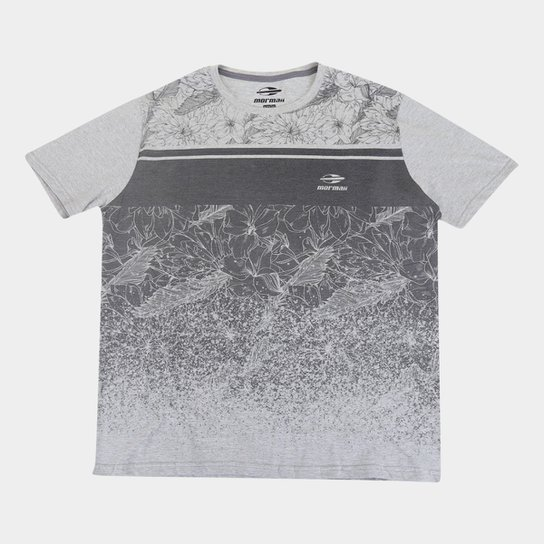 Camiseta Mormaii Nature Plus Size Masculina - Cinza+Bege