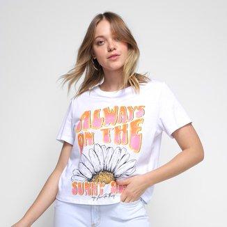 Camiseta My Favorite Things Sunny Side Feminina