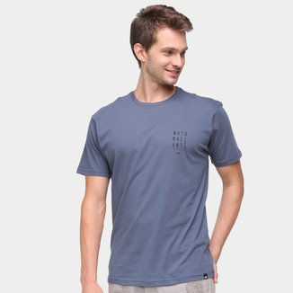 Camiseta Natural Art Folhas Masculina